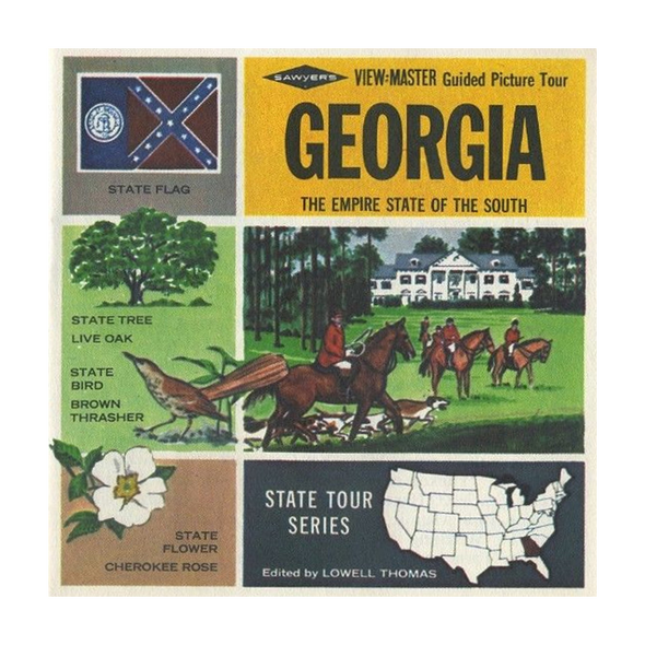 ViewMaster - Georgia - Map Series - A915 - Vintage - 3 Reel Packet - 1960's views