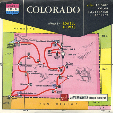 Colorado - Map Series - A320 - Vintage Classic View-Master - 3 Reel Packet - 1960s Views