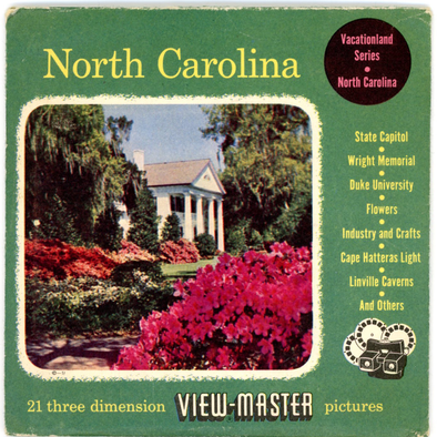 North Carolina - Vintage Classic View-Master(R) 3 Reel Packet - 1950s views