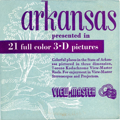 Arkansas State - Vintage Classic View-Master - 3 Reel Packet - 1950s Views