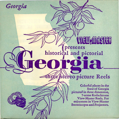 Georgia - 1st issue - Vintage Classic View-Master® - 3 Reel Packet - 1950s Views