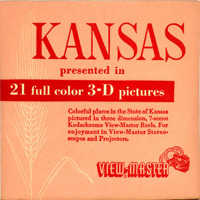 Kansas - 1st series. -  Vintage Classic View-Master® - 3 Reel Packet - 1950s Views