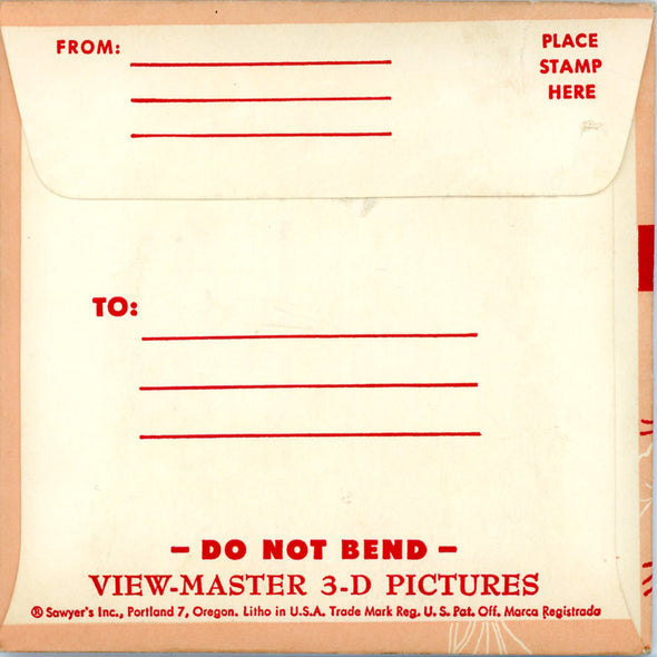 Wisconsin - 1st Series - Vintage Classic View-Master 3 Reel Packet - 1950's views
