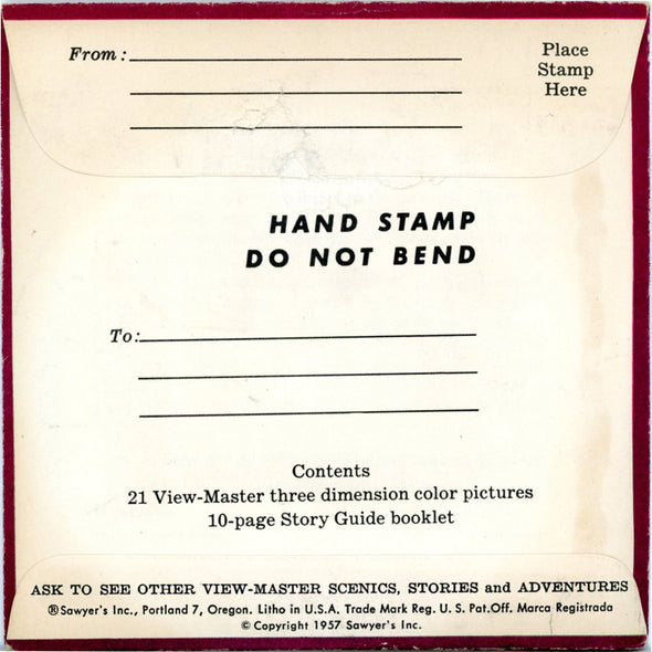 ViewMaster - Vermont -  Vacationland Series - Vintage  - 3 Reel Packet - 1950s views