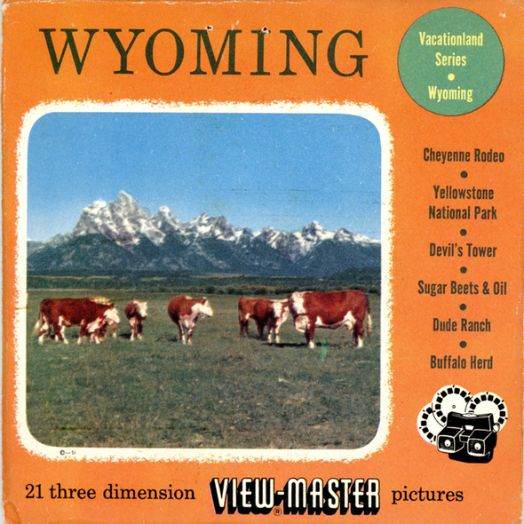 View-Master - Scenic West - Wyoming Vacationland Series