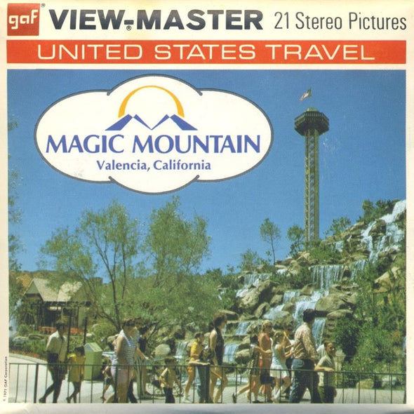 Magic Mountain - A204 - Vintage Classic View-Master - 3 Reel packet - 1970s Views