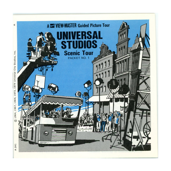 ViewMaster - Universal Studios - Scenic Tour # 1- California - A241 - Vintage - 3 Reel packet - 1970s views