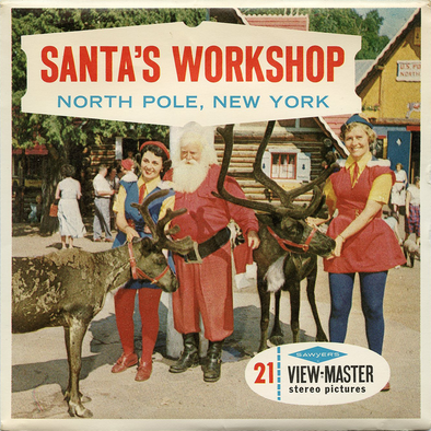 Santa's Workshop, North Pole, N.Y. - A660 - Vintage Classic View-Master - 3 Reel Packet - 1960s views