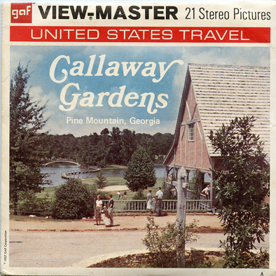 Gallaway Gardens - Pine Mountain, Georgia - A919 - Vintage Classic View-Master - 3 Reel Packet - 1960 Views