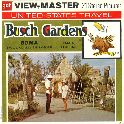 Busch Gardens - Florida - A957 - Vintage Classic View-Master - 3 Reel Packet - 1970s Views
