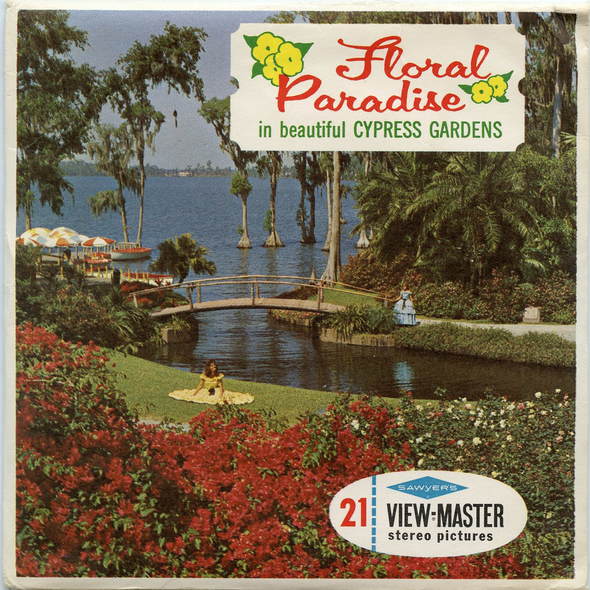 Floral Paradise in The Beautiful Cypress Gardens - A969 - Vintage Classic View-Master 3 Reel Packet - 1960s views