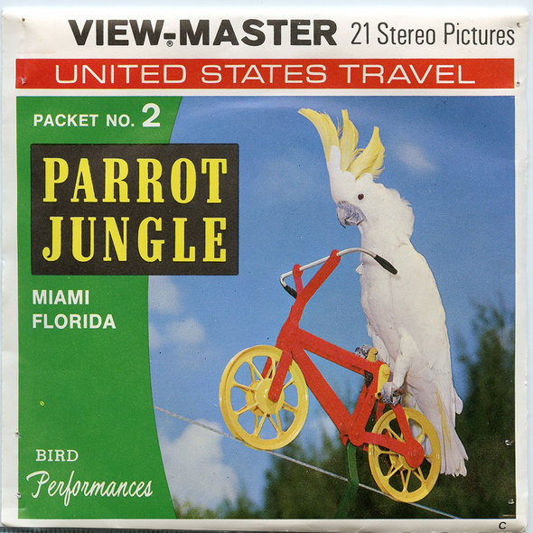 View-Master - Scenic South - Parrot Jungle Miami Florida