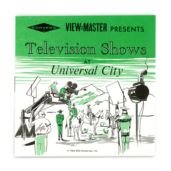 ViewMaster - Television shows - Universal City Studios - B477 - Vintage - 3 Reel Packet - 1960s Views