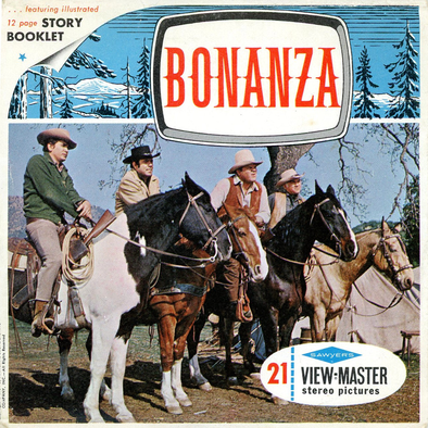Bonanza - Showtime - Vintage Classic ViewMaster(R) - 3 Reel Packet - 1960s