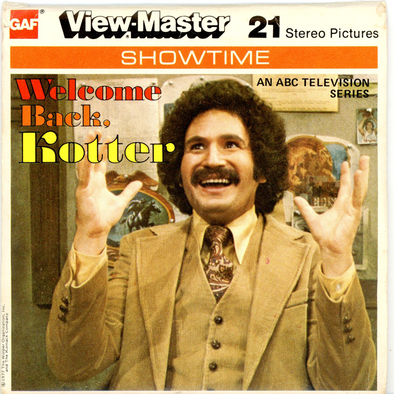 Welcome Back, Kotter - J19 - Vintage Classic View-Master - 3 Reel Packet - 1970s Views