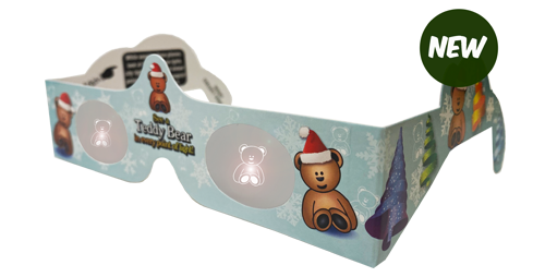 Christmas Glasses Holiday Eyes® - Teddy Bear