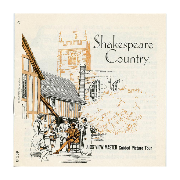 Shakespeare Country - B159 - Vintage Classic View-Master 3 Reel Packet - 1970's View