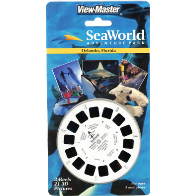 SeaWorld Adventure Park - Orlando, Florida - 2000 - ViewMaster 3 Reels on Card