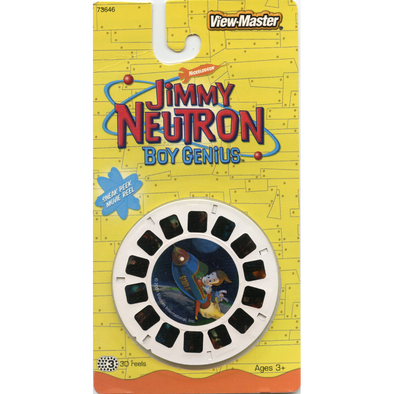 Jimmy Neutron Boy Genius - View Master 3 Reels on Card