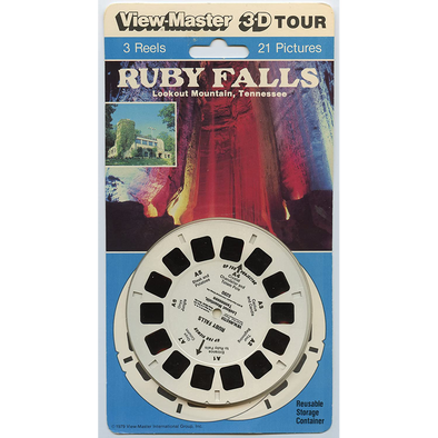 Ruby Falls - ViewMaster 3 Reels on Card
