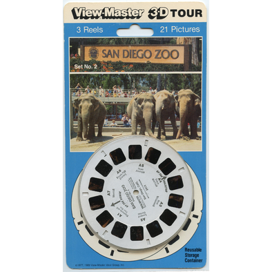 San Diego Zoo - ViewMaster - 3 Reels on Card