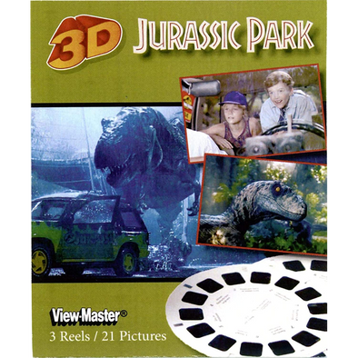Jurassic Park - Scenes from the Movie - View Master 3 Reel Set