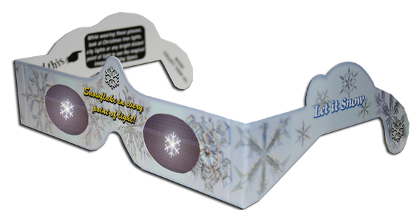 Christmas Glasses Holiday Eyes® - Snowflake