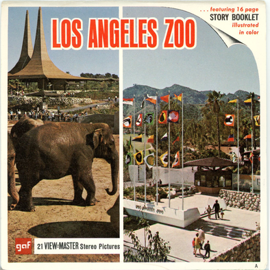 Los Angeles Zoo-A201 - Vintage Classic View-Master® - 3 Reel Packet - 1967s Views