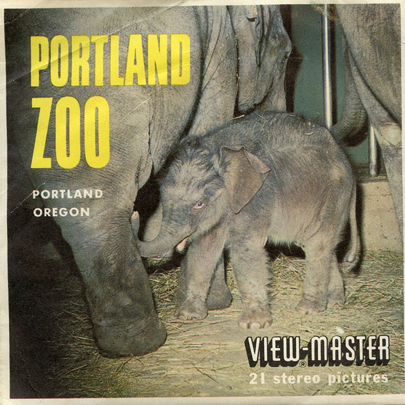 Portland Zoo  - A252 - Vintage Classic View-Master - 3 Reel Packet - 1960s views