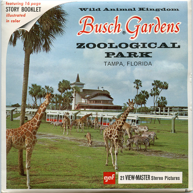 Busch Gardens Zoological Park, Tampa, Florida - Vintage Classic View-Master® - 3 Reel Packet - 1960s Views