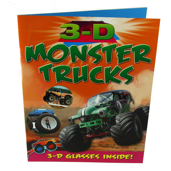 3D Thrillers! - MONSTER TRUCKS - Includes funky 3D Glasses
