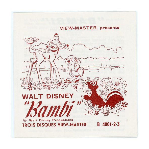 ViewMaster BAMBI - B400 - Vintage Classic  - 3 Reel Packet - 1960s