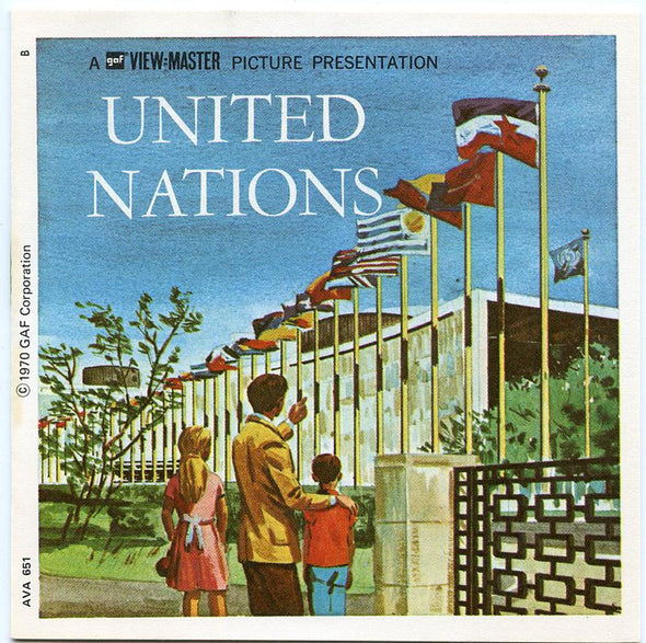 ViewMaster - United Nations - A651 - Vintage - 3 Reel Packet - 1970s views