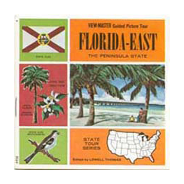 ViewMaster - Florida - East - Map Series - A958 - Vintage  - 3 Reel Packet - 1960s Views