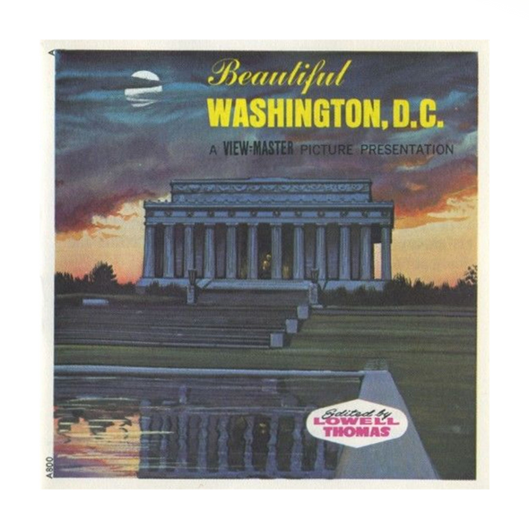 Washington, D.C.  -Vintage Classic View-Master 3 Reel Packet - 1960s views