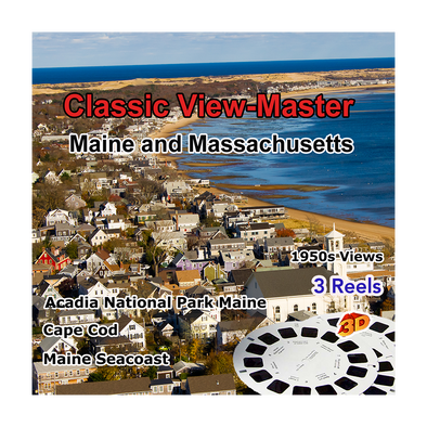 Massachusetts & Maine - Vintage Classic View-Master - 1950s views