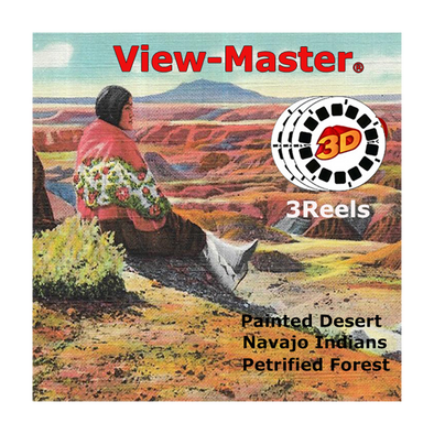 Painted Desert, Petrified Forest, Navajo Indians - Vintage Classic View-Master - 1950s views