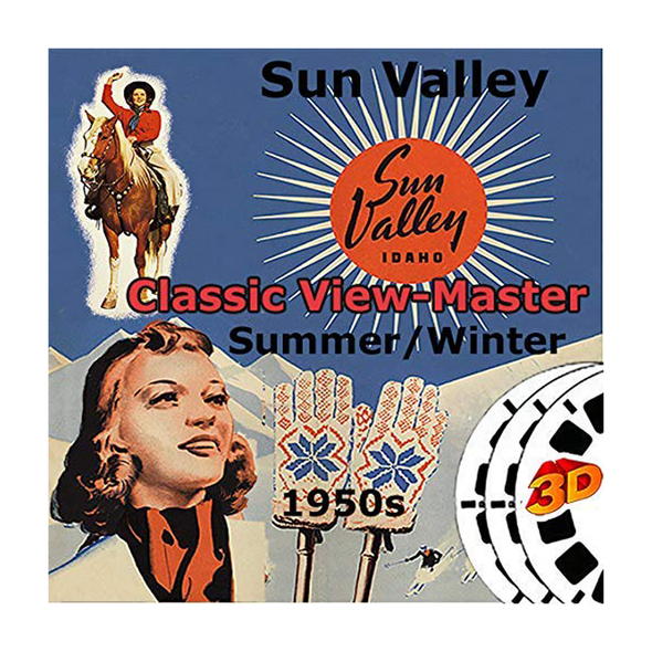 Sun Valley, Idaho - Vintage Classic View-Master - 1950s views