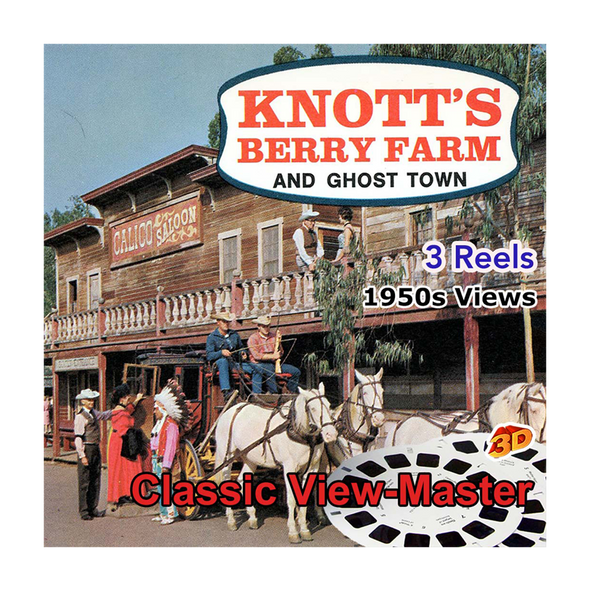 Knott's Berry Farm - Ghost Town -  Vintage Classic View-Master - 1950s views