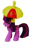 My Little Pony Twilight Figurine with Umbrella Hat