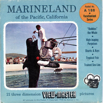 Marineland - of the Pacific, California - A188 - Vintage Classic View-Master - 3 Reel Packet - 1960s Views
