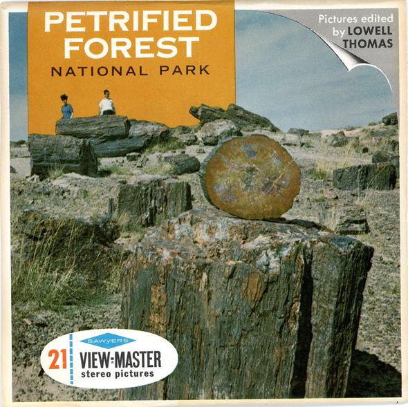 Petrified Forest National Park - A365 - Vintage Classic View-Master - 3 Reel Packet - 1960s Views