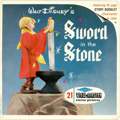 Sword in the Stone - B316 - Vintage Classic View- Master - 3 Reel Packet - 1960s Views