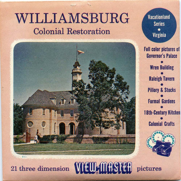 View-Master - Scenic South - Williamsburg Vacationland