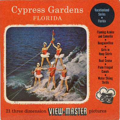 Cypress Garden Florida - Vintage Classic View-Master - 3 Reel Packet - 1950s Views