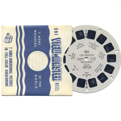 Los Angeles, California Vintage Single White Printed Reel - 221