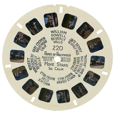 viewmaster hand-lettered reel movie stars homes