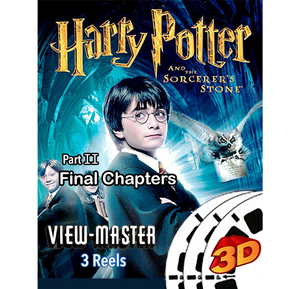 Harry Potter Part 2 - ViewMaster - FINAL CHAPTERS - Sorcerer's Stone - 3 Reel Set