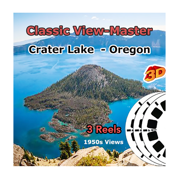 Crater Lake Natl Park Oregon Coast - Vintage Classic View-Master - 1950s views