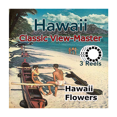 Hawaii Flowers -  Vintage Classic View-Master® - Set of 3 Reels - 1950s views